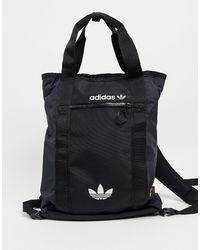 adidas Originals Adventure - Sac à dos style tote bag avec logo - Noir
