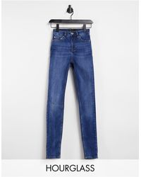 ASOS Hourglass - Skinny Jeans Met Hoge Taille 'lift En Contour' - Blauw