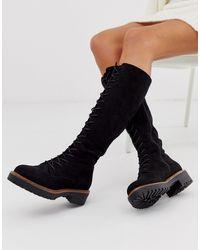 ASOS Botas por la rodilla - Negro