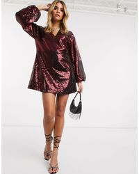 Ivyrevel - Sequin Mini Dress With Flared Sleeves - Lyst