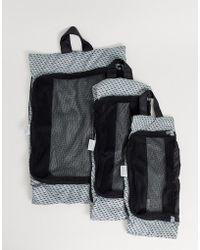 Kipling Set Van 3 Reistasjes In Marineblauw - Zwart