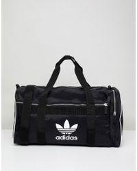 adidas Originals Adicolor Duffle Bag In Black Cw0618