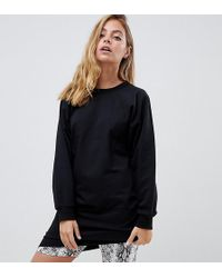 ASOS - Asos Design Petite Ultimate Seamed Sweat Dress - Lyst