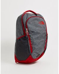 The North Face Vault Light Backpack In Dark Grey/red