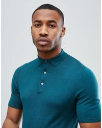 New Look - Muscle Fit Polo Shirt In Teal - Lyst