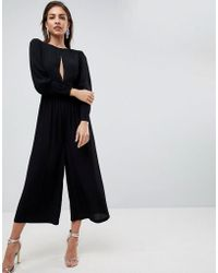 ASOS - 40's Tea Jumpsuit With Sleeve Detail - Lyst