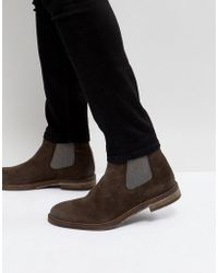 Steve Madden - Teller Suede Chelsea Boots In Brown - Lyst