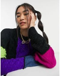 The Ragged Priest Oversized Sweater - Multicolor