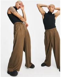 ASOS Pantalon habillé ultra large - Rouille - Multicolore
