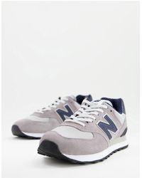 New Balance Кроссовки Серого И Темно-синего Цвета 574-серый