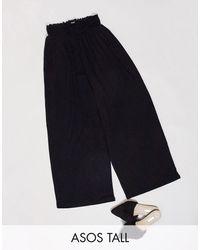 ASOS Asos design tall - gonna pantalone arricciata - Nero