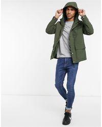 Farah Hanley - Manteau à capuche avec 3 poches - Vert