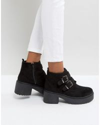 Park Lane - Chunky Sole Buckle Boot - Lyst