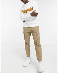 Pull&Bear Светло-коричневые Брюки Карго Из Ткани Рипстоп -светло-коричневый - Многоцветный
