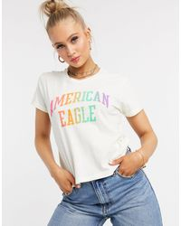 American Eagle Camiseta - Blanco