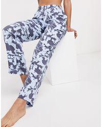 Calvin Klein Штаны Для Дома С Цветочным Принтом -мульти - Синий