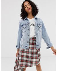 Cheap Monday Recycled Denim Trucker Jacket With Elbow Rips