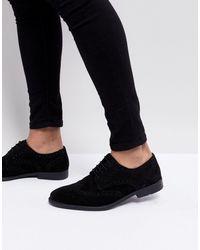 ASOS Chaussures derby style richelieu - daim - Noir