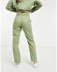 Bershka Double Waisted Tailored Trouser Co-ord - Green