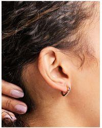 Orelia huggie Hoop Earrings - Metallic