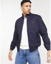 Polo Ralph Lauren - Темно-синяя Куртка Харрингтон Из Твила С Логотипом Baracuda-темно-синий - Lyst