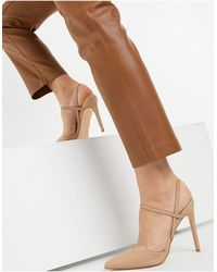 Steve Madden Palie Pointed Heeled Shoes - Natural