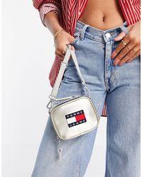 Tommy Hilfiger Серебристая Маленькая Сумка-кошелек На Пояс С Логотипом -серебристый - Металлик