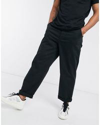 ASOS Chinos In Wide Fit In Black