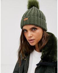 522a68f63 Chunky Knit Pom Pom Beanie Hat - Green
