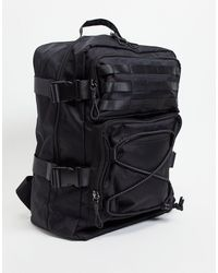ASOS Backpack With Clip Detail - Black
