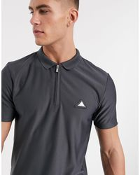 River Island Polo With Badge - Grey
