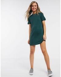 Monki Abbie Mini T-shirt Dress - Green