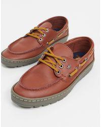 adidas Originals Saint Florent - Bootschoenen Van Bruin Leer - Rood