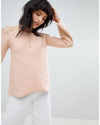 NYTT Alexa Off Shoulder Flared Sleeve Top - Multicolour