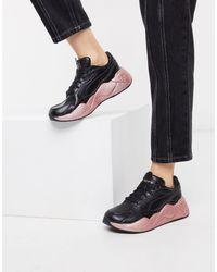 PUMA Черные Кроссовки С Блестящей Отделкой Rs-x3-черный