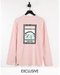 The North Face - Розовый Лонгслив С Розовым Принтом Faces – Эксклюзивно Для Asos-розовый Цвет - Lyst