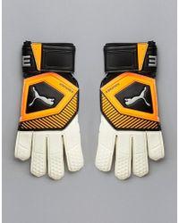 PUMA - Football Goal Keeping Gloves In Orange 041475-01 - Lyst