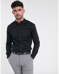 ASOS Stretch Skinny Shirt - Black
