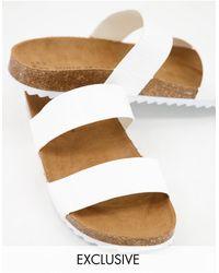 South Beach Exclusivité - Sandales à deux brides - Croco blanc