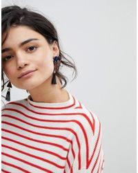 Ashiana Drop Tassel Statement Earrings - Multicolour