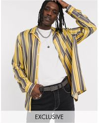 Heart & Dagger V Neck Shirt With Stripe-neutral - Natural