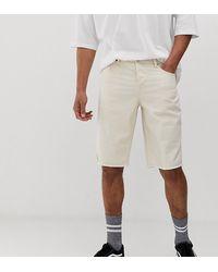 ASOS Tall Slim Denim Shorts - White