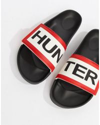 HUNTER - Logo Sliders In Black - Lyst