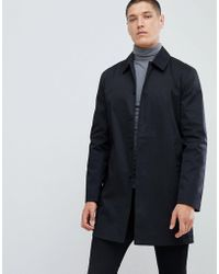 ca1782a53e08 Lyst - Fred Perry Bonded Mac In Black in Black for Men