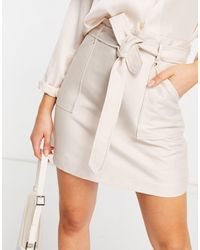 Forever New Tie Belt Utility Mini Skirt With Pockets - Natural