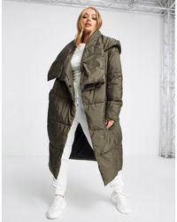 UGG Пальто На Подкладке Цвета Хаки Catherina-зеленый