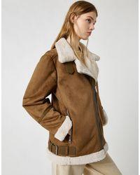 Pull&Bear Коричневая Oversized Куртка-авиатор -коричневый