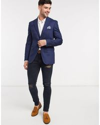 Burton Giacca da abito slim - Blu