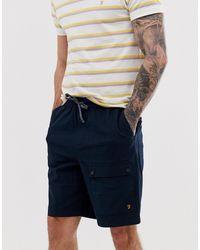 Farah Ibiza Canvas Cargo Shorts - Blue