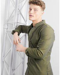 Paul Smith Elegant Overhemd Met Lange Mouwen - Groen